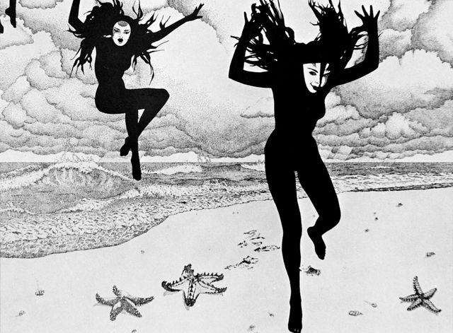 Myrtille Henrion-Picco, Encre de chine, 1980s, originally uploaded by Gatochy.