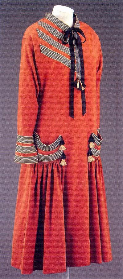 Brique day dress by paul poiret