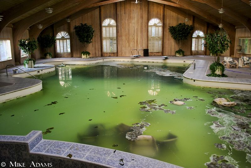 Mike tyson mansion pool